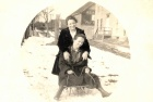 Sledding, Rose Cardin and Mrs. McIntire,  72.49.43.jpg